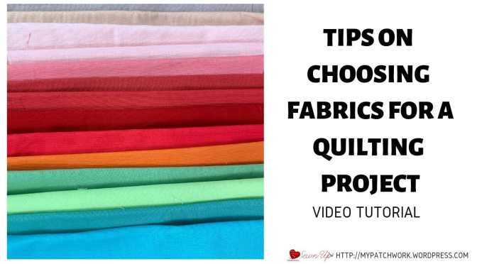 Tips on choosing fabrics for a quilt project – Turnabout patchwork QAL
