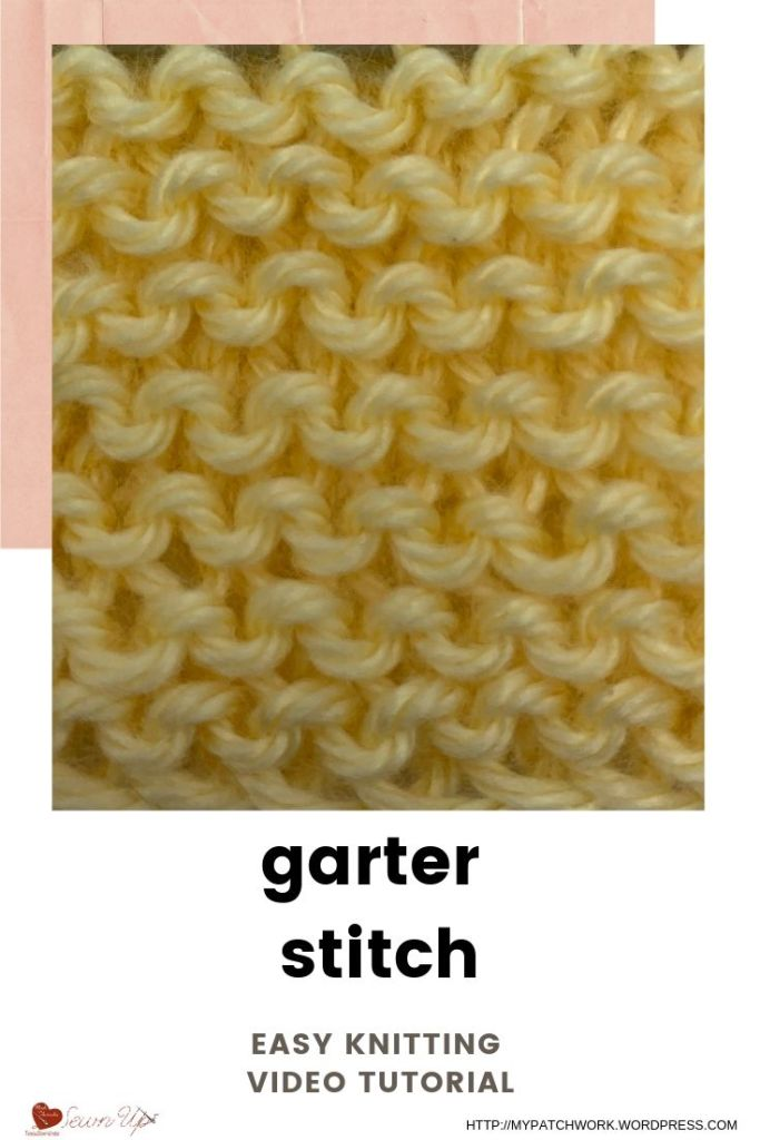 Garter stitch - easy knitting video tutorial