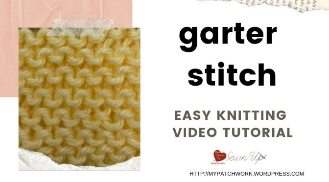 Garter stitch - easy knitting video tutorial