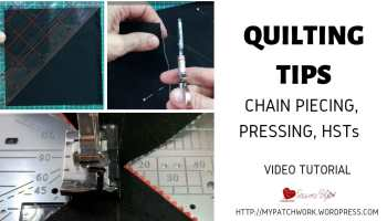 Quilting tips video tutorial