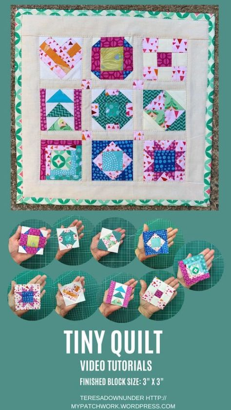 Tiny quilt video tutorials