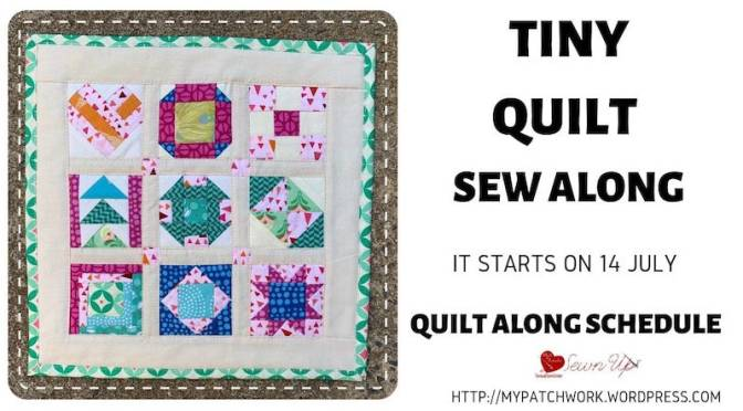 Tiny quilt sew along schedule