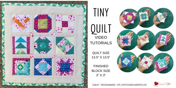 "Tiny quilt - 3"" x 3"" blocks"