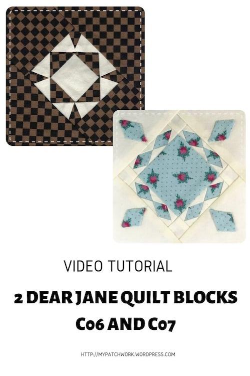 Dear Jane quilt blocks