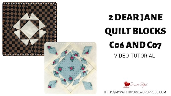 Two Dear Jane quilt blocks