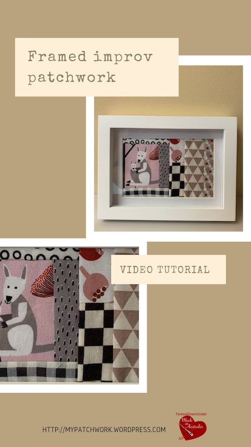 Framed improv patchwork video tutorial