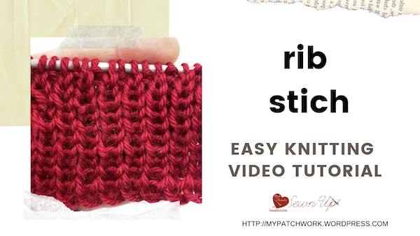 Rib stitch – easy knitting tutorial
