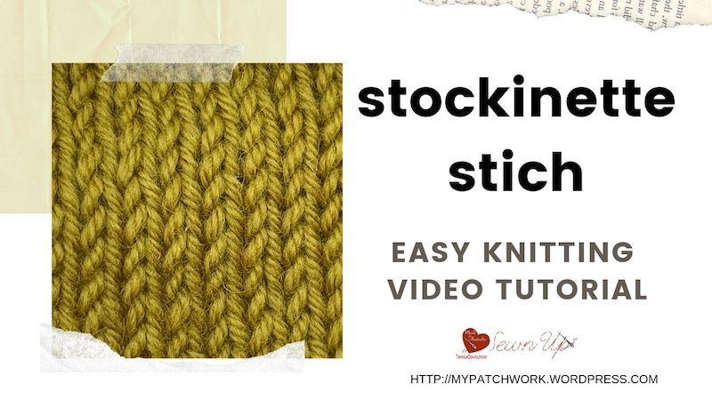 Stockinette stitch video tutorial