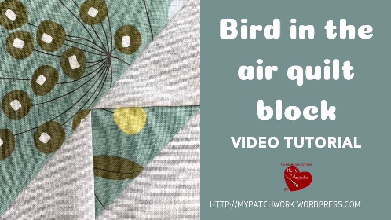 Bird in the air quilt block