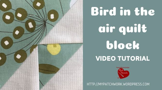 Bird in the air quilt block – video tutorial