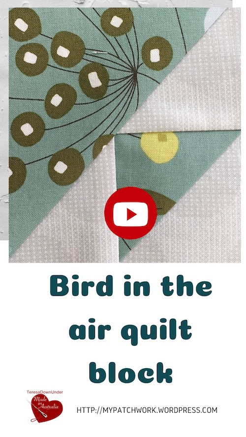 Bird in the air quilt block