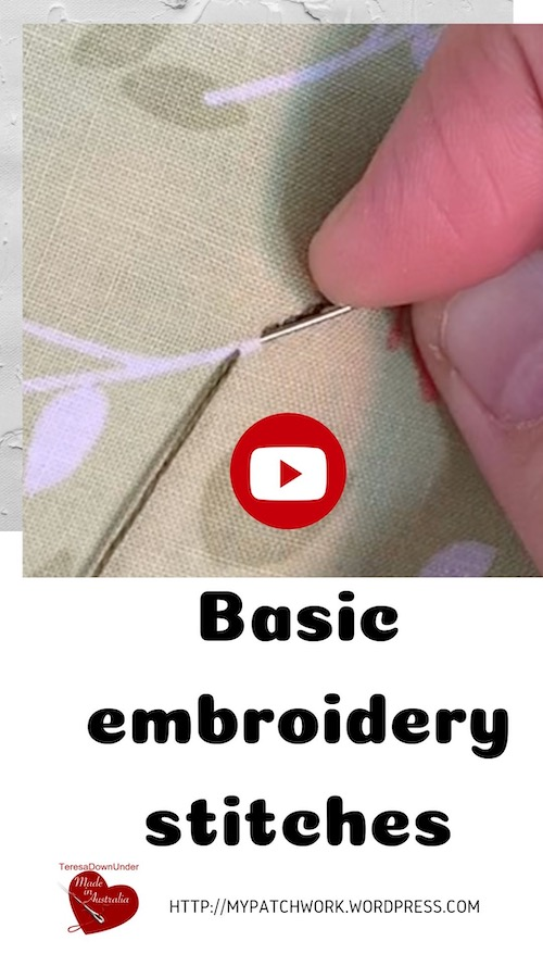 Basic embroidery stitches video tutorial