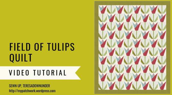Field of tulips quilt pattern