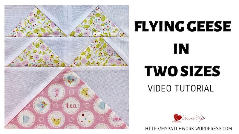 Flying geese in two sizes