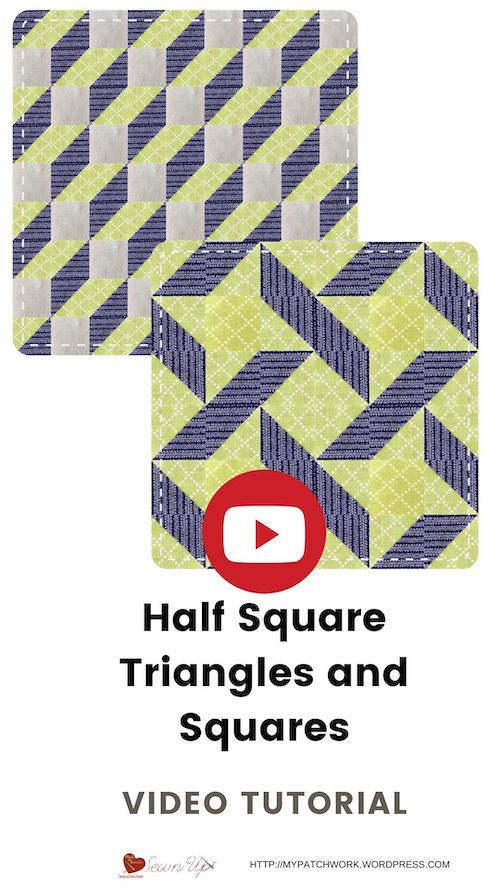 Half square triangels and squares