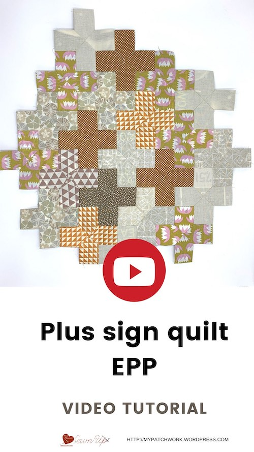 Plus sign quilt - video tutorial