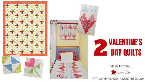 Two valentine's day quilts