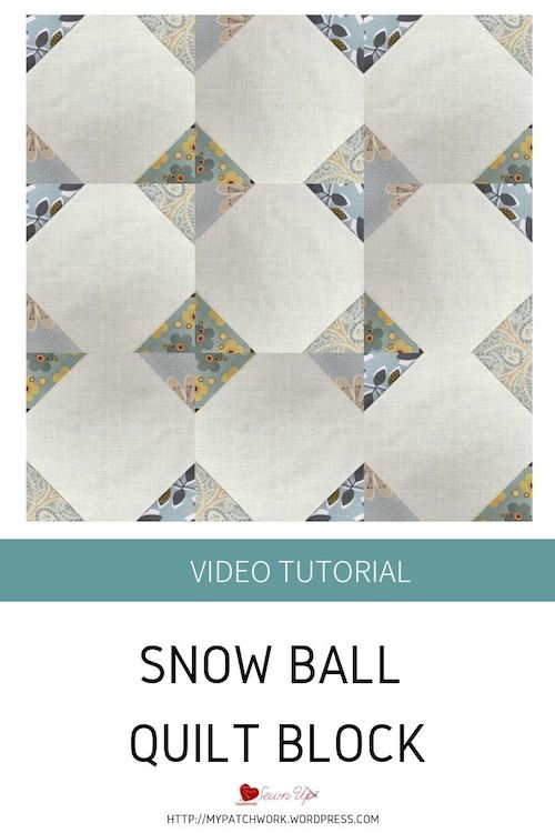 Snow ball quilt block