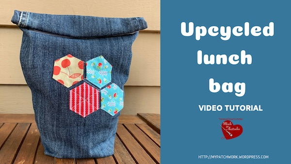 Upcycled denim lunch bag – video tutorial