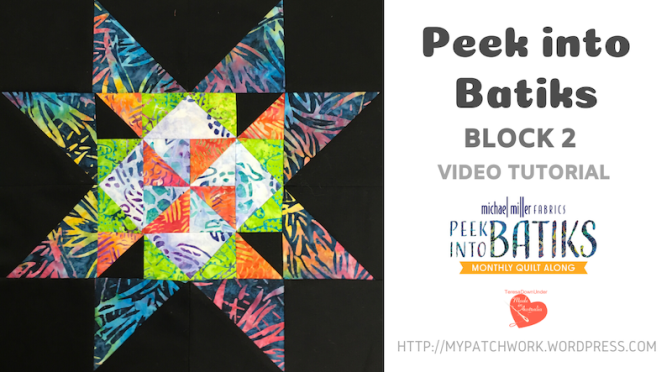 """Peek into batiks"" QAL – Block 2 video tutorial"