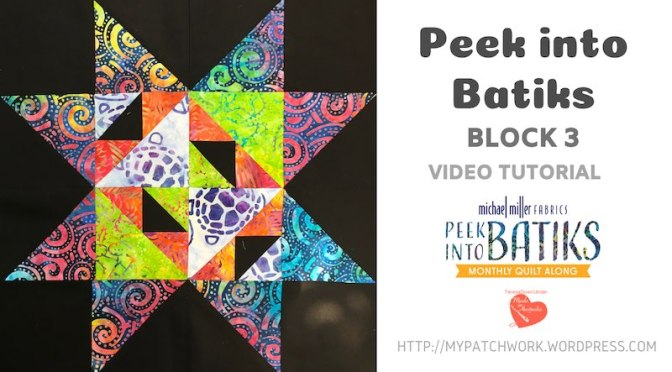 """Peek into batiks"" QAL – Block 3 video tutorial"
