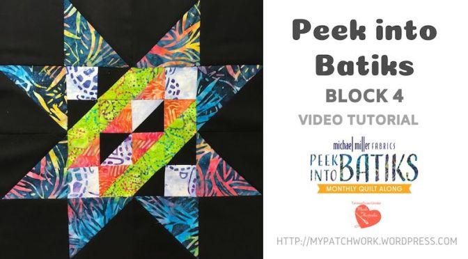 """Peek into batiks"" QAL – Block 4 video tutorial"