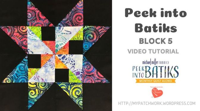 """Peek into batiks"" QAL – Block 5 video tutorial"