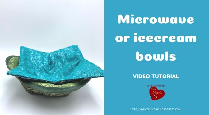 Ice cream and microwave bowl cozy – video tutorial