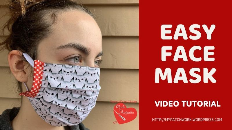 Easy face mask video tutorial