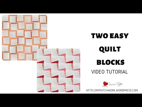 Two easy modern quilt blocks –  video tutorial
