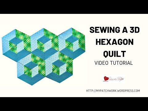 Sewing a 3d hexagon quilt with jelly rolls – video tutorial