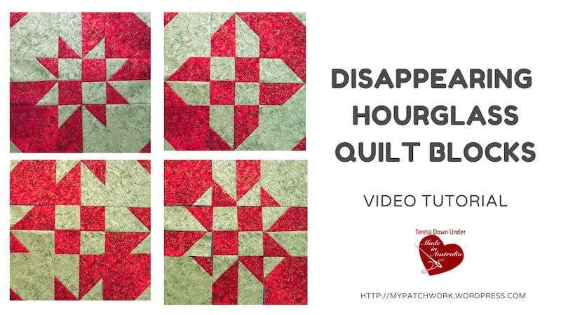Disappearing hourglass variations quilt block