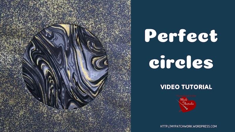 Perfect circles - Quilting video tutorial
