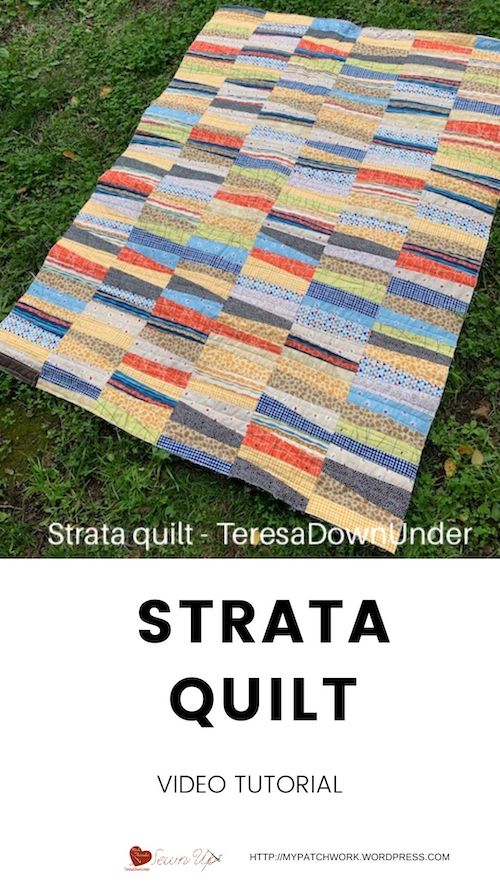 Strata quilt video tutorial
