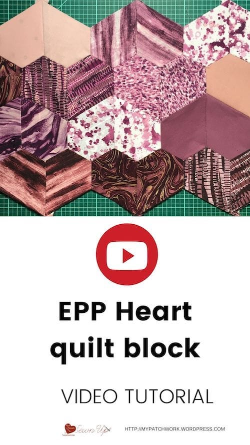 EPP Heart quilt block