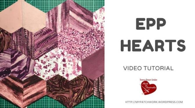 Hearts – english paper piecing (EPP) – Video tutorial