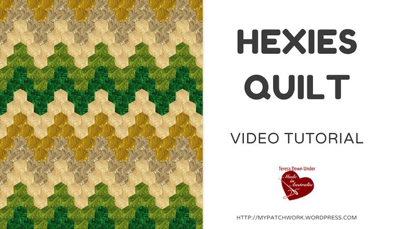 Hexies quilt video tutorial