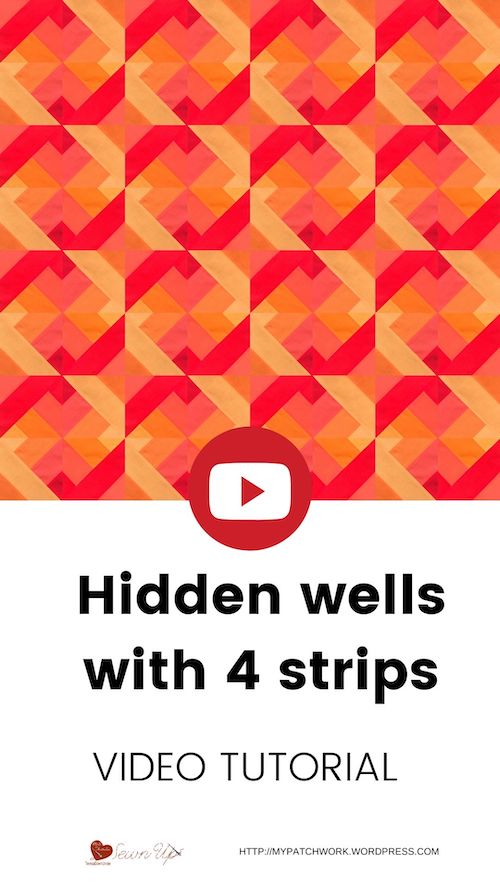 Hidden wells quilt with 4 strips
