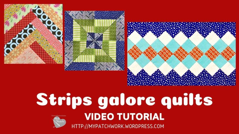 Strips galore quilts