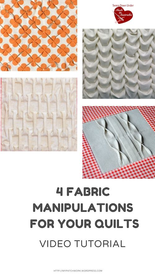 4 fabric manipulations for your quilt video tutorial