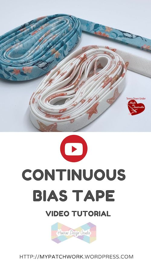 Continuous bias tape video tutorial