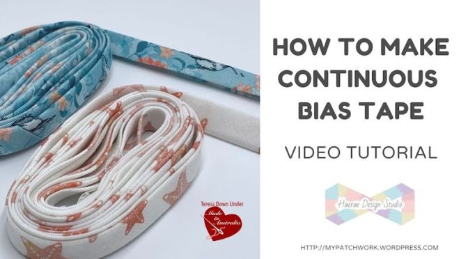 Continuous bias tape – video tutorial