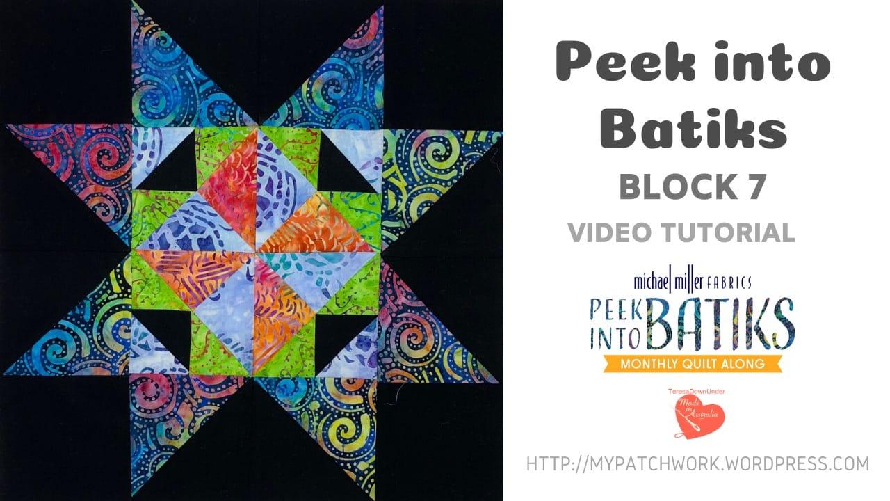Peek into batiks QAL - video tutorial