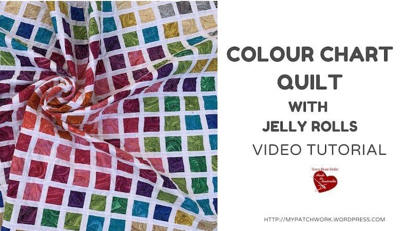 Colour chart quilt pattern