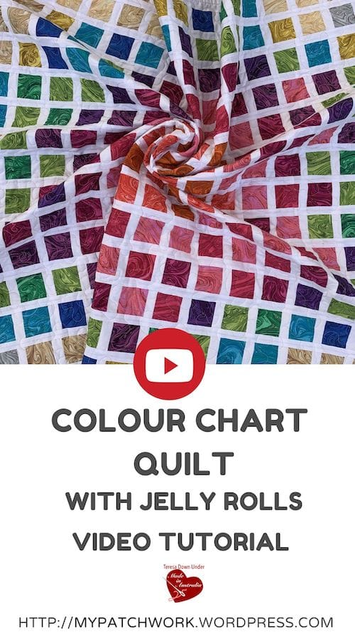 Colour chart quilt pattern video tutorial