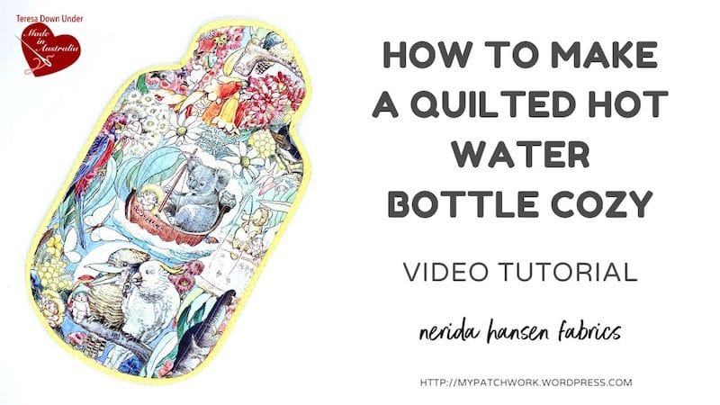 Hot water bottle cozy video tutorial