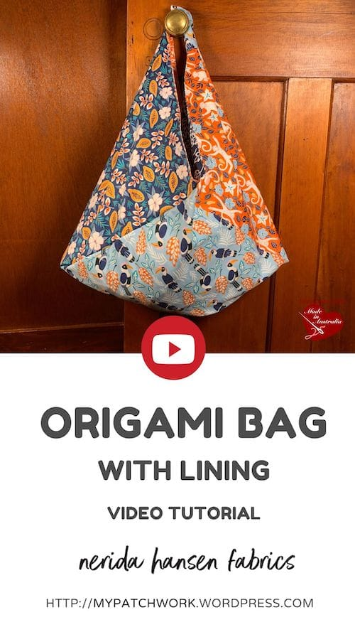 How to make an origami bag video tutorial