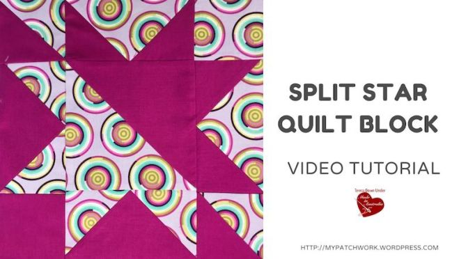 Split star quilt block – video tutorial