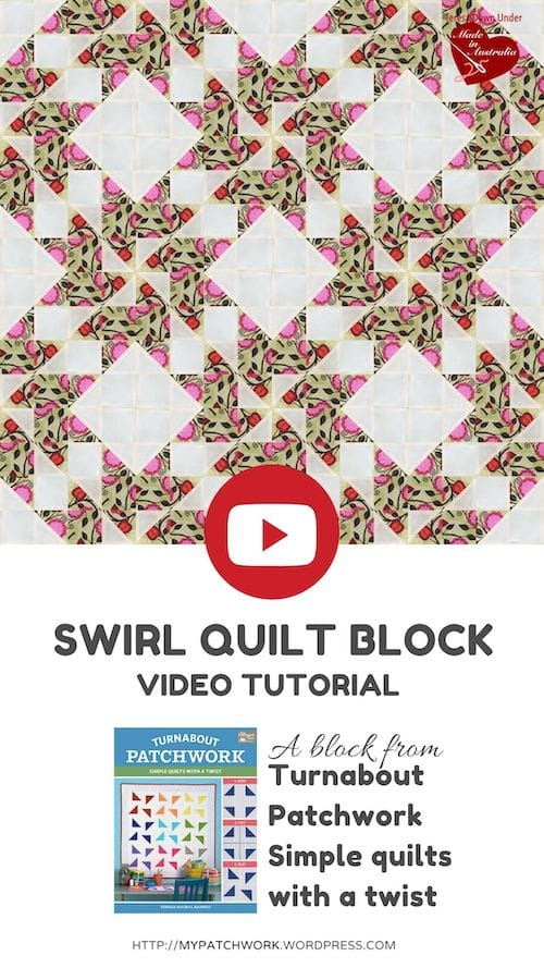 Swirl quilt, Turnabout patchwork