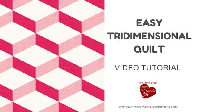 Easy tridimensional quilt block – no Y seams!